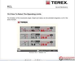 terex mobile and crawler crane full set shop manual dvd auto
