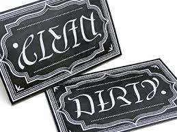 dirty clean ambigram magnet dishwasher magnet magnets and