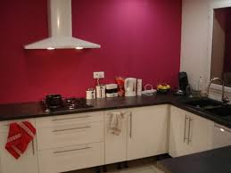 cuisine blanche mur framboise cuisine gris fushia idées décoration intérieure farik us
