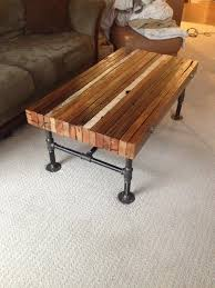 Lower Coffee Table by Coffee Table Made From Old 2x4s And Black Iron Pipe Woodworking