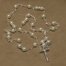 wedding lasso rosary and pearl set with wedding lasso chest rosary