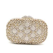 diamond studded newest clutch bag flower evening bag diamond