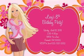 barbie birthday invitations templates free images invitation