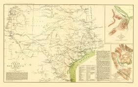 A Map Of New Mexico by Civil War Map Texas New Creek U0026 Pleasant Mills 1857