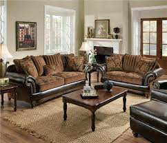 Leather And Upholstered Sofa Leather And Fabric Sofa Wojcicki Me
