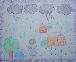 five best drawings of rain by children of taiyyebiyah