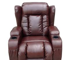 leather power recliner chairs with massage and heat of lazy boy