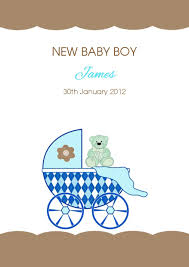 baby card personalised new baby boy card design 4