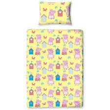 peppa pig seaside toddler duvet cover set toddlers u0026 preschoolers