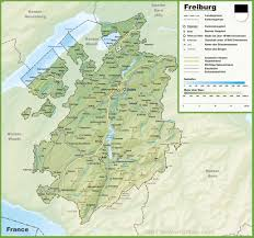 Map Of Switzerland And France by Canton Of Fribourg Maps Switzerland Maps Of Canton Of Fribourg