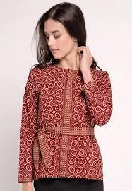 gambar model baju batik modern 20 gambar model baju batik wanita lengan panjang yang modern model