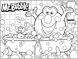 bath time 3d coloring pages with glum me