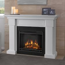 Electric Fireplace With Mantel with Real Flame Silverton Electric Fireplace White Hayneedle