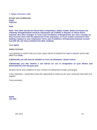 salary increase letter template from employer to employee loan