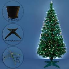 Green Pre Lit Pop Up Christmas Tree by Funkybuys 3ft Green Fibre Optic Pop Up Prelit Christmas Tree With