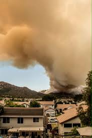 Wildfire Near Julian Ca by Temecula Fire Winds Kick Up And Heat Rises But Crews Stand