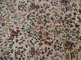 Antique Persian Rugs by Hunting Scene Original Handmade Rug 10 U0027 X 13 U0027 Semi Antique Persian