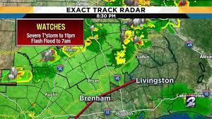 Houston Weather Map Severe Thunderstorm Watch Issued For Houston Area Counties