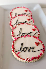 heart themed decorated cookies for valentine u0027s day