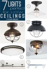 low ceiling lighting options ceiling designs