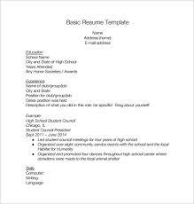 high school resume template microsoft word free high school resume template blank for students http 8