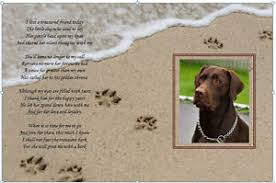 pet bereavement personalised dog bereavement poem keepsake memorial gift boy or