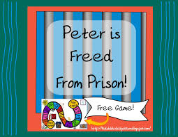 bible fun for kids peter freed from prison peter pinterest