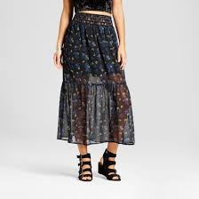 maxi skirt women s woven maxi skirt xhilaration juniors black target