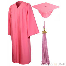 homeschool graduation cap and gown premium graduation cap gown package pink