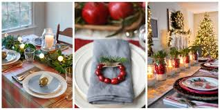Christmas Table Settings Ideas Excellent Beautiful Christmas Table Settings 27 On Interior Design