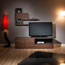 modern tv cabinet stand and wall unit shelves walnut grey 1 8