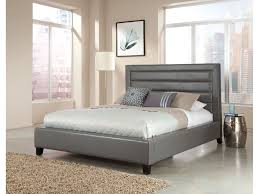 gray upholstered headboard wood frame nice and interalle com