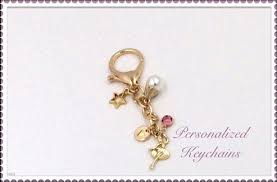 personalized birthstone keychains gold ballet keychain personalized ballerina pearl keyring