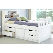 Daybed White Daybed With Storage Bookcase Drawers White Daybed