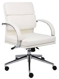 Modern White Chairs Amazon Com Boss B9406 Wt Caressoftplus Executive Series Chair