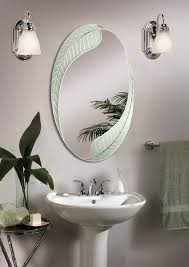 bathroom ideas leaves cheap oval bathroom mirrors under two wall