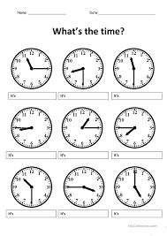 telling time worksheets in spanish free worksheets library