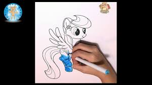 my little pony rainbow dash coloring page crayola markers speed
