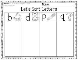 b d p q cut u0026 paste letter sort free cut and paste class work