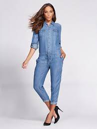 jean jumpsuit ny c gabrielle union collection denim jumpsuit blue flash wash