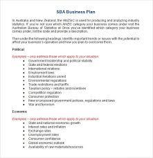 sba business plan template alternative pics small doc sle 6