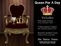 King And Queen Throne Chairs Second Life Marketplace Mother U0027s Day Queen For A Day Chair