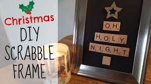 diy christmas tree scrabble frame christmas home decor youtube