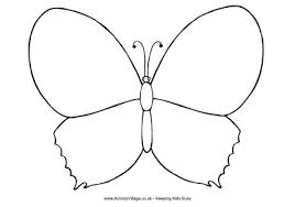 a butterfly colouring page