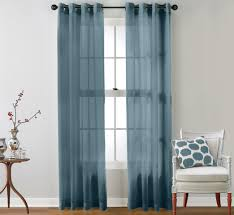 Dusty Curtains Hlc Me 2 Sheer Window Curtain Grommet Panels Dusty Blue