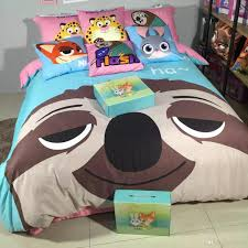 2016 new arrival zootopia sloth flash printed queen size 100
