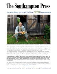 The Health Barn Eci Hosts Hampton Bays Premiere Of Seed The Untold Story