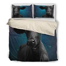 black cow galaxy bedding set barn smile shop for farmer love cow