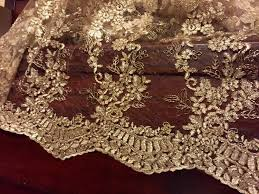 sale gold embroidered lace table runner gold tablecloth table
