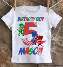 boys pj masks birthday shirt pj mask birthdays and mask